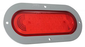 53592 – SuperNova® Oval LED Stop Tail Turn Light, Gray Theft-Resistant Flange, Red