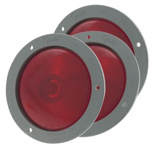 53612-3 – 4″ Economy Stop Tail Turn Light, Gray Theft-Resistant Flange, Red, Bulk Pack