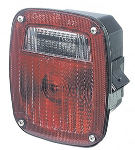 53640 – SuperNova® Three-Stud Metri-Pack® LED Stop Tail Turn Light, LH w/ License Window, Red