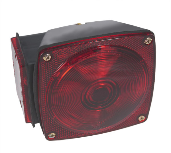 53662 – Submersible Trailer Lighting Kit, RH Stop Tail Turn Replacement, Red
