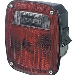 three stud metri pack stop tail turn light lh license window red