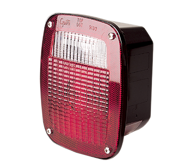 53782 – Ford® Stop Tail Turn Box Light, RH w/ License Window, Red