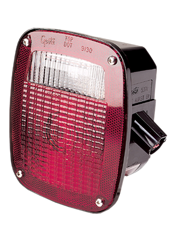 53792 – Ford® Stop Tail Turn Box Light, LH w/ License Window, Red