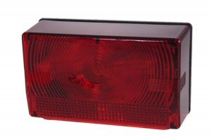 53812 – Submersible Compact Trailer Lighting Kit, Replacement RH, Stop Tail Turn, w/ License Window, Red