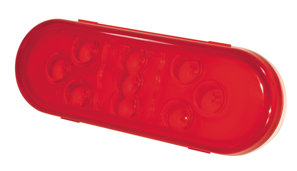 54132 – SuperNova® 9-Diode Oval LED Stop Tail Turn Light, Male Pin, Red