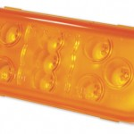 Yellow 9-Diode Oval LED Stop Tail Turn Light