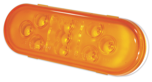 54133 – SuperNova® 9-Diode Oval LED Stop Tail Turn Light, Male Pin, Yellow