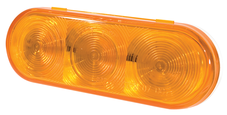 Grote Industries - 54173 – Grote Select™ Oval LED Stop Tail Turn Light, Auxiliary, Female Pin, Yellow