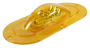 54203 – SuperNova® Oval LED Side Turn Marker Light, Integrated Flange Mount, Male Pin, Yellow