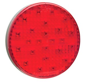 54562 – SuperNova® 4″ Full-Pattern LED Stop Tail Turn Light, Grommet Mount, Hard Shell Connector, Red