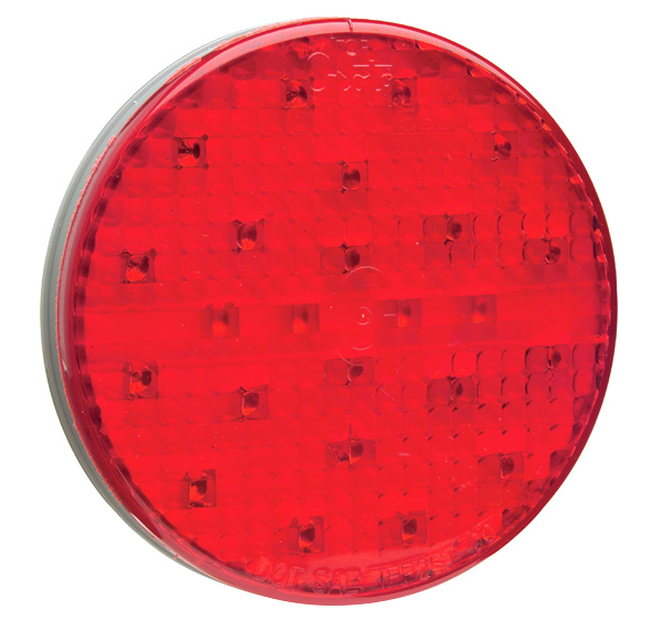 54562 – SuperNova® 4″ 10-Diode Pattern LED S/T/T & Auxiliary Lamps, Grommet Mount 12V, Red