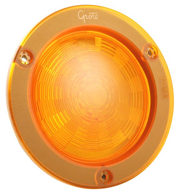 54573 – SuperNova® 4″ NexGen™ LED Stop Tail Turn Light, Integrated Flange w/ Gasket, Hard Shell, Yellow