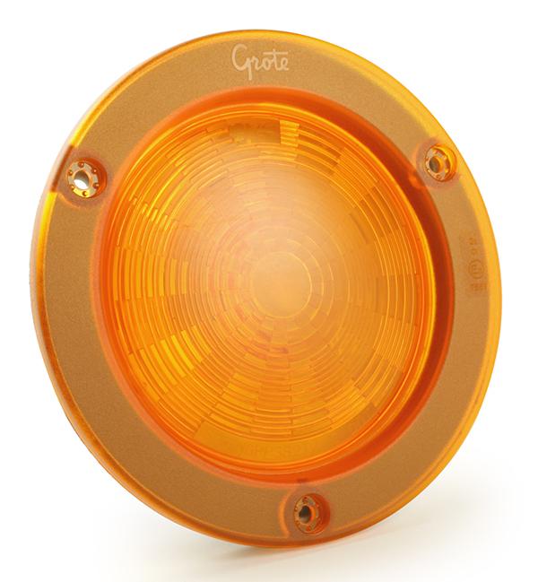 54633-3 – SuperNova® 4″ NexGen™ LED Stop/Tail/Turn Lamp, Intergrated Flange w/ Gasket, Male Pin, Yellow Turn, Bulk Pack