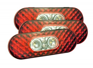 54672-3 – 6″ Oval LED Stop Tail Turn with Integrated Back-Up Lights, Male Pin Termination, Bulk Pack
