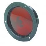 economy steel light single contact red