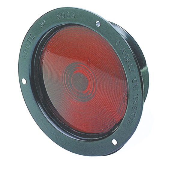Grote Industries - 55092 – Economy Steel Light, Single Contact, Red