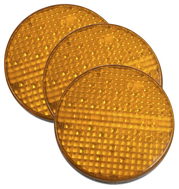 Grote Industries - 55103-3 – SuperNova® 4″ Full-Pattern LED Stop Tail Turn Light, Grommet Mount, 2 Pin, Rear Turn, Yellow, Bulk Pack