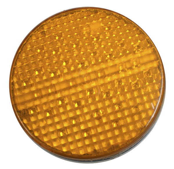 Grote Industries - 55103 – SuperNova® 4″ Full-Pattern LED Stop Tail Turn Light, Grommet Mount, 2 Pin, Rear Turn, Yellow