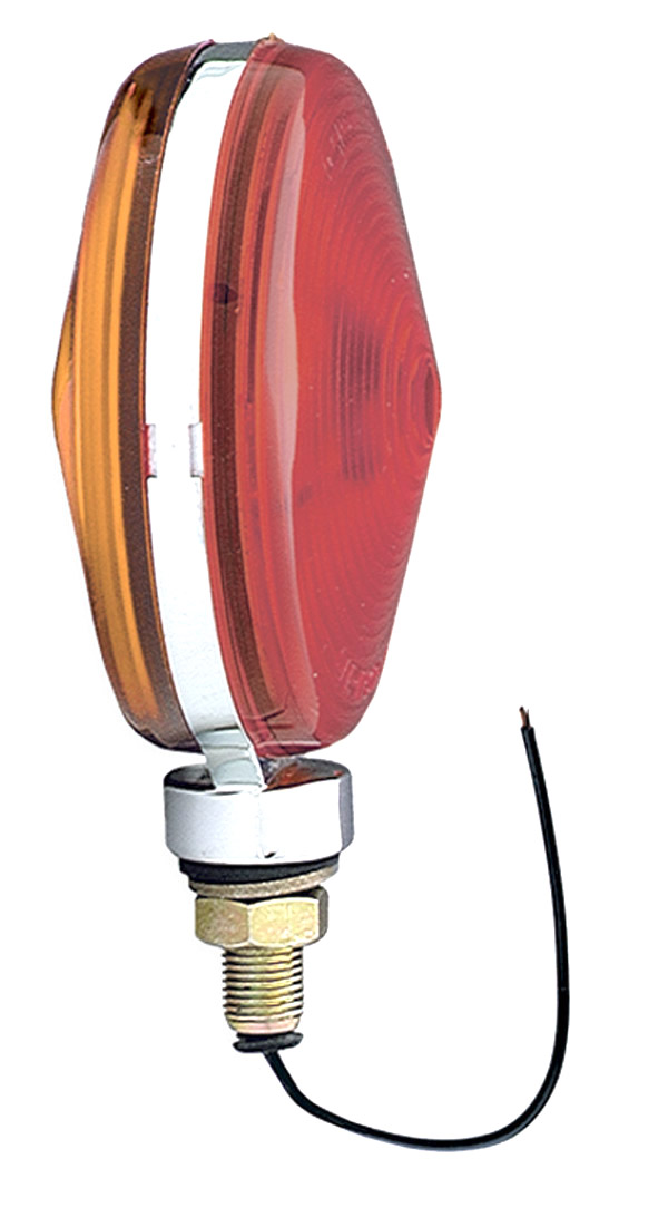 55280 – Thin-Line Zinc Die-Cast Double-Face Light, Baked Aluminum Finish, Red/Yellow