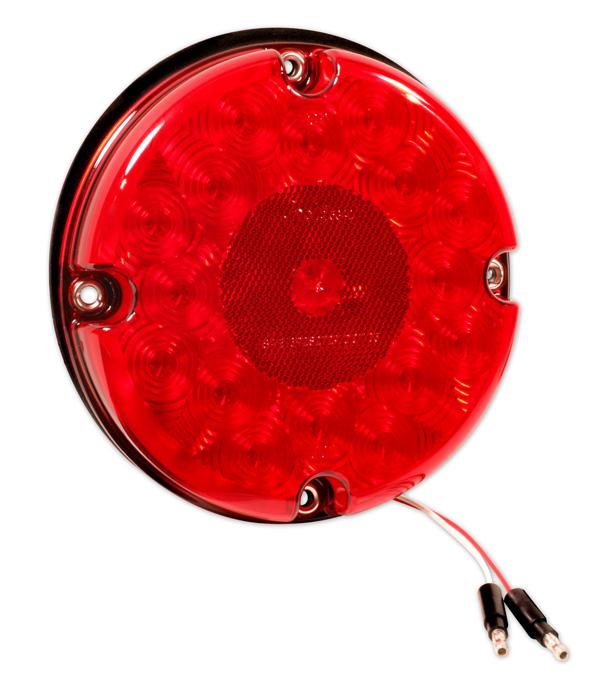 55982 – 7″ LED Turn Light, Single Function w/ Reflex, Red