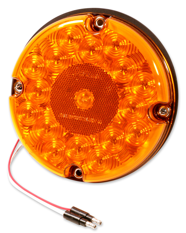55983-3 – 7″ LED Stop/Tail/Turn Lamp, Front Turn, Single Function w/ Reflex, Yellow, Bulk Pack