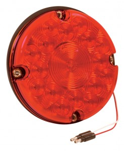 55992 – 7″ LED Turn Light, Single Function, w/out Reflex, Red