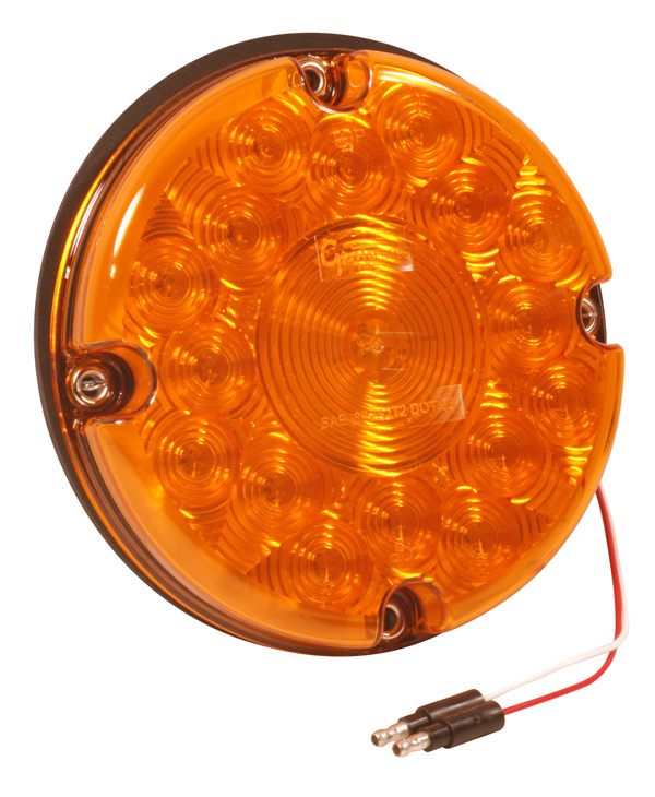 55993 – 7″ LED Stop/Tail/Turn Lamp, Single Function, w/out Reflex, Yellow Turn