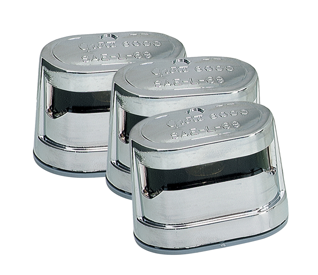 Grote Industries - 60011-3 – Resealable License Light, Triple Chrome, Bulk Pack