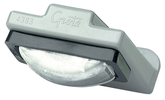 Grote Industries - 60280 – Small Rectangular License Light, Clear Kit (60261 + 43830)
