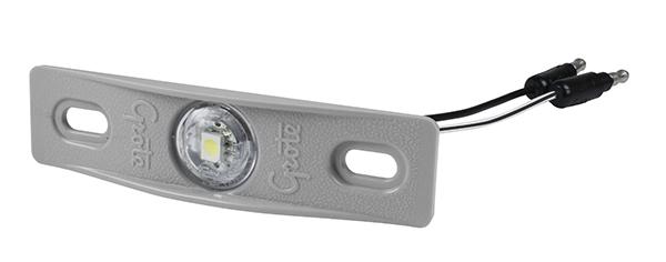 60661 – MicroNova® Dot LED License Light, w/ Adapter Bracket, Gray