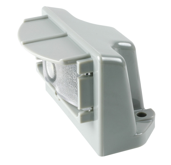 60681 – MicroNova® LED License Light, Vertical Mount, Multi-Volt Gray