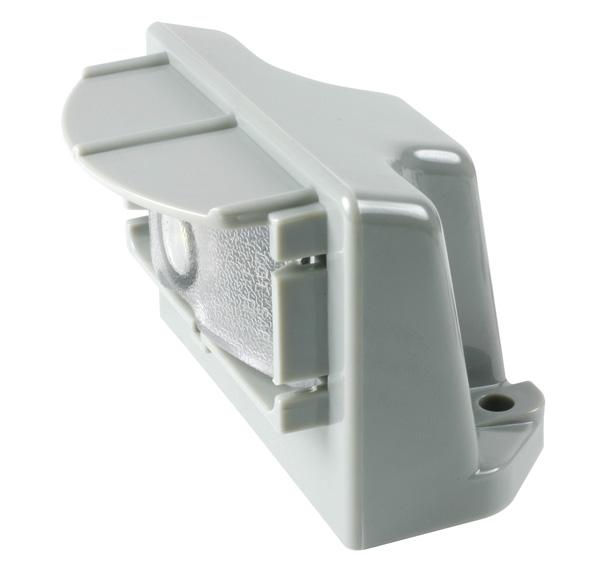Grote Industries - 60681 – MicroNova® LED License Light, Vertical Mount, Multi-Volt Gray