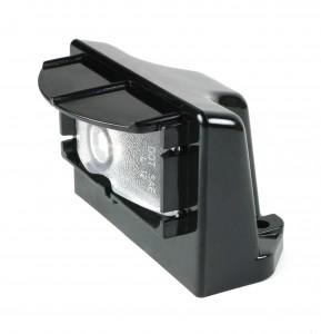 60701 – MicroNova® LED License Light, Vertical Mount, Multi-Volt, Black