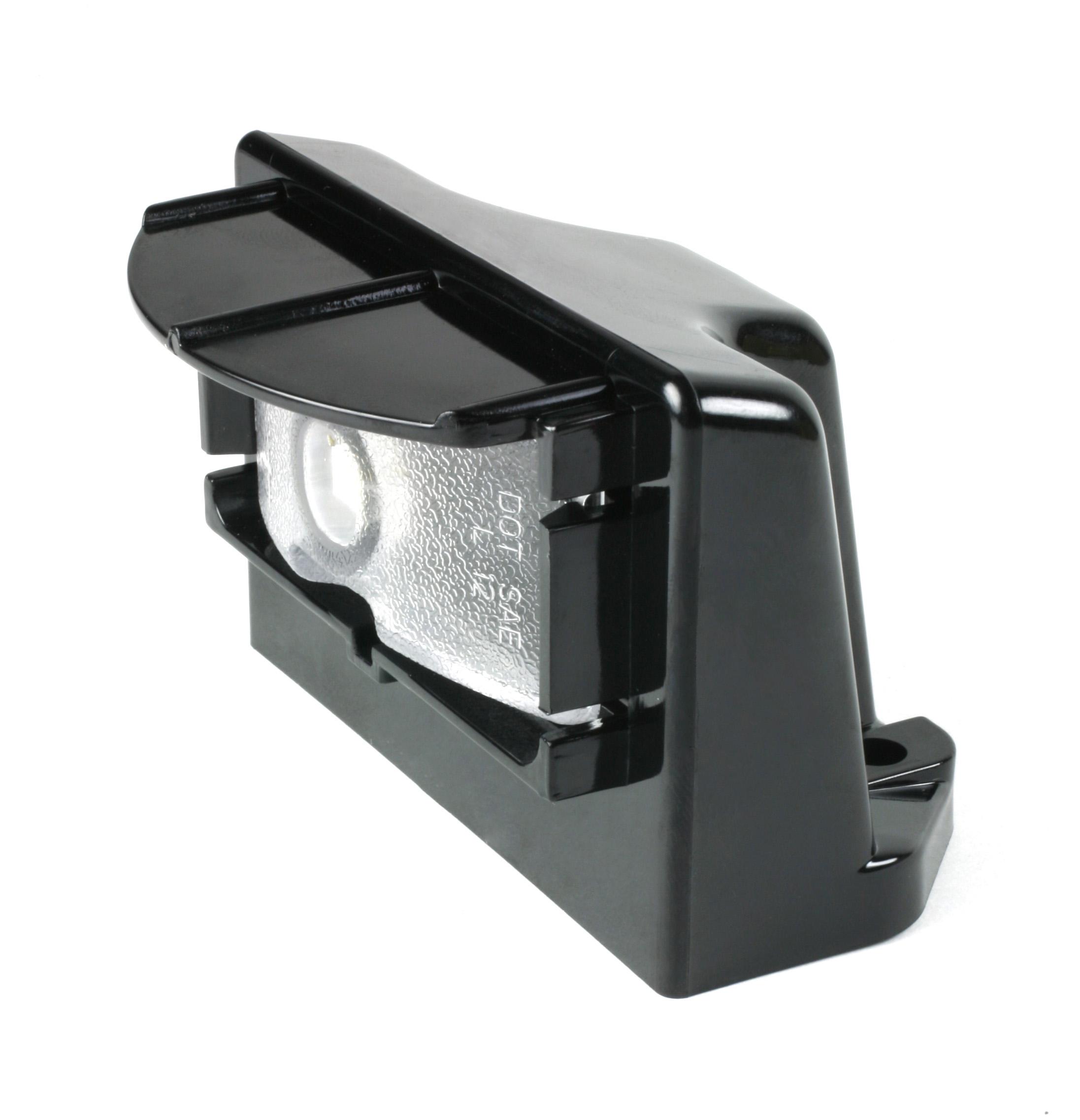 Grote Industries - 60701 – MicroNova® LED License Light, Vertical Mount, Multi-Volt, Black