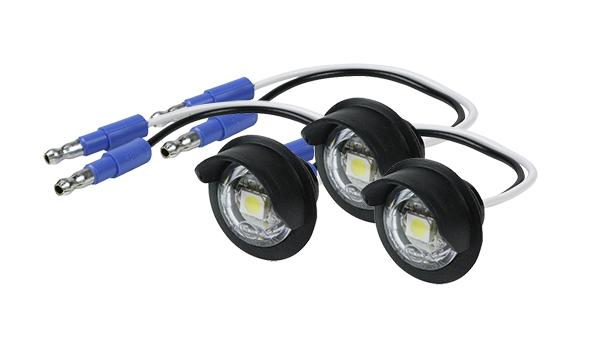 60721-3 – MicroNova® Dot LED License Lamp, w/ Hooded Grommet, Clear, Bulk Pack