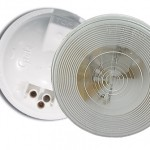 torsion mount ii round dome light female pin white