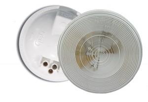 61051 – Torsion Mount® II 4″ Round Dome Light, Female Pin, White
