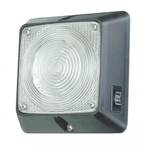 Luz cuadrada para iluminación interior, con interruptor