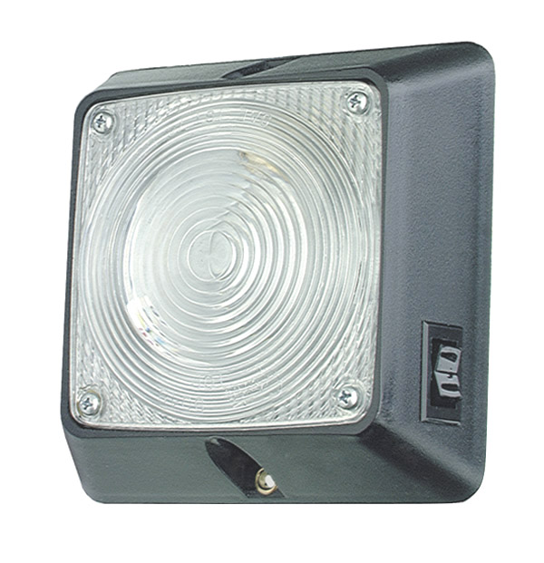 Square dome light with switch clear