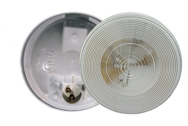 61451 – Torsion Mount® II 4″ Round Dome Light, Male Pin, Clear