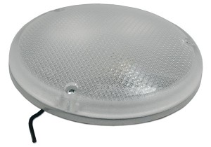 Steel Semi-Recessed Round Dome Lamp