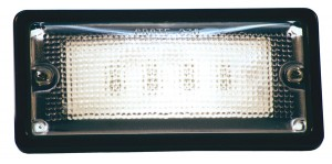 61760 – LED WhiteLight™ Recessed Small Mount Light, 6 Diodes, Hardwire Dome, 150 Lumens, 10-30V, Black