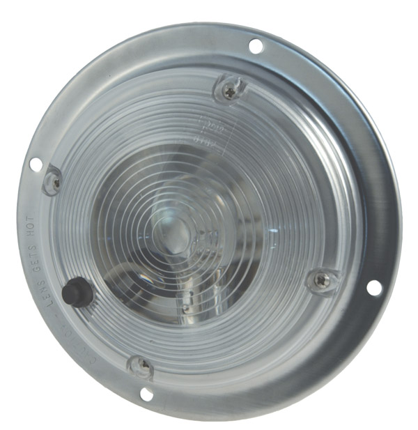 Grote Industries - 61821 – 6″ Surface Mount Dome Light w/ Switch, Clear