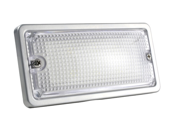 61861 – LED WhiteLight™ Recessed Small Mount Light, 6 Diodes, Dome Flush-Mount, 300 Lumens, 9-30V, Gray