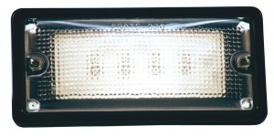 61890 – LED WhiteLight™ Recessed Small Mount Light, 6 Diodes, Hardwire Dome, 150 Lumens, 10-32V, Black