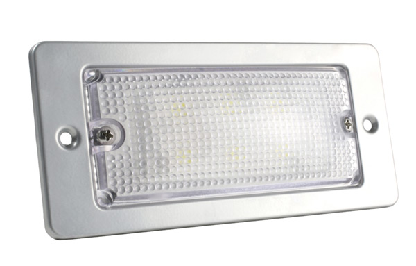 Grote Industries - 61931 – LED WhiteLight™ Recessed Small Mount Light, 6 Diodes, High Output Version, 300 Lumens, 12V, Gray
