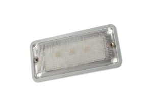 61961 – LED WhiteLight™ Courtesy Flush Mount Interior Light, 3 Diodes, Courtesy Flush-Mount, 150 Lumens, 12V, Gray