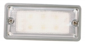 61991 – LED WhiteLight™ Recessed Small Mount Light, 6 Diodes, Dome Recess-Mount, 300 Lumens, 12V, Gray