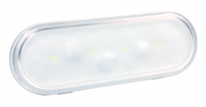 61G31 – Oval LED WhiteLight™ Dome Light, Male Pin, Clear