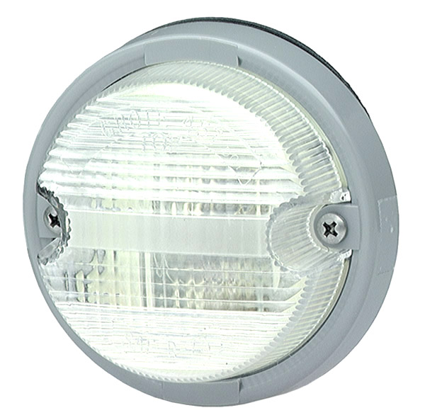 Grote Industries - 62011 – OE-Style Dual-System Backup Light, Gray Bezel, Clear